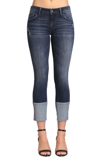 Mavi Jeans Caisy Cuffed Skinny Crop Jeans, Blue