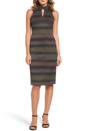 Maggy London Jacquard Sheath Dress, Black