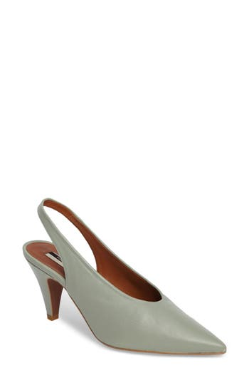 Topshop Jemma Slingback Pointy-Toe Pump - Green