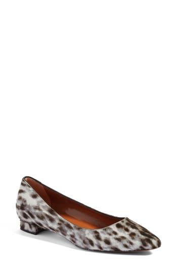 Aquatalia Perla Weatherproof Genuine Calf Hair Ballerina Shoe, White