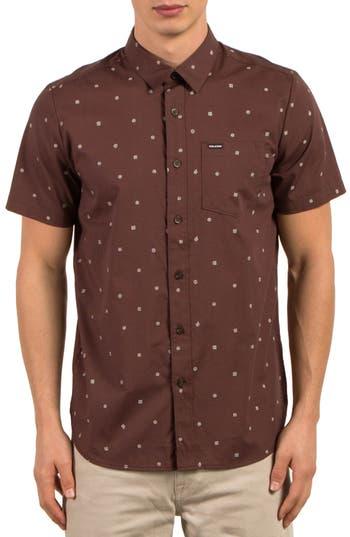 Volcom High Ace Print Shirt, Purple