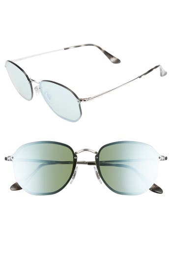 Ray-Ban Rimless 5m Sunglasses - Silver/ Dark Green Mirror