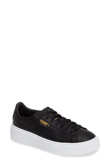 Puma Basket Platform Sneaker- Black