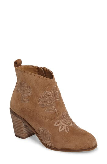 Lucky Brand Pexton Embroidered Bootie, Brown