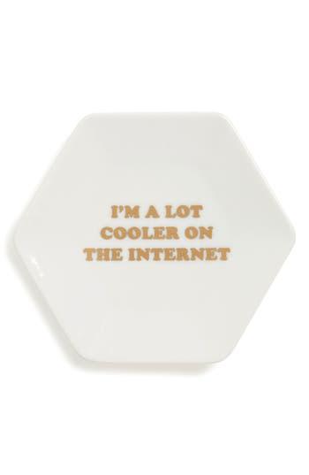 Fringe Studio Cooler On The Internet Trinket Tray, Size One Size - White