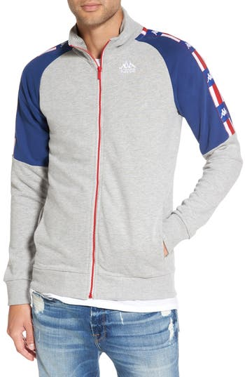 Kappa Zimsa Fleece Track Jacket, Grey