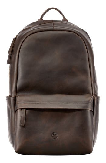 Men's Timberland Tuckerman Leather Backpack - Brown