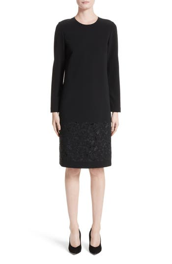 Lafayette 148 New York Corbin Embroidered Laser Cut Dress, Black