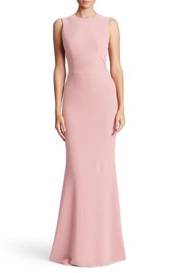 Dress The Population Eve Crepe Mermaid Gown, Pink