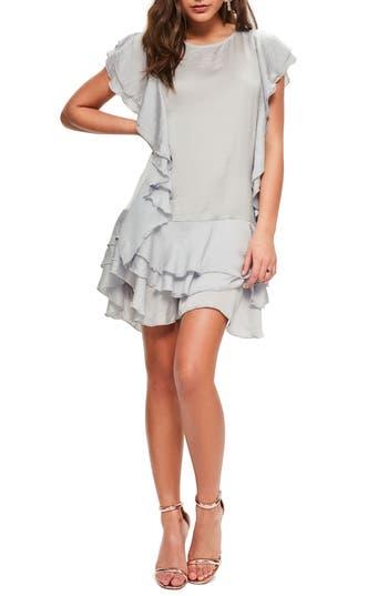 Missguided Layered Ruffle Minidress, US / 4 UK - Grey
