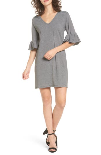 Women's Cotton Emporium Flare Sleeve Stripe Dress