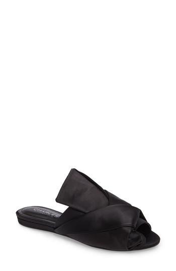 Charles By Charles David Mya Folded Slide Sandal- Black