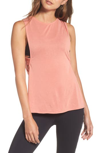 Free People Fp Movement Crossback Training Tank, Pink