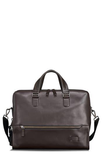 Tumi Harrison Horton Double Zip Leather Briefcase - Brown