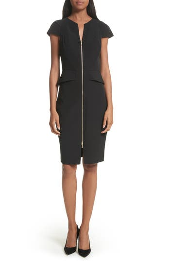 Ted Baker London Architectural Pencil Dress, Black