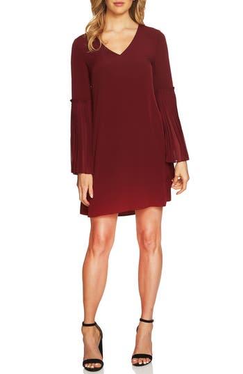 Cece Madeline Bell Sleeve Shift Dress, Red