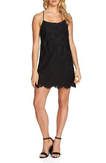 1.state Floral Lace Racerback Shift Dress, Black