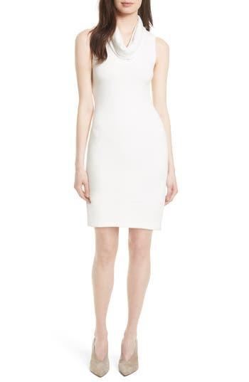 Alice + Olivia Knit Sheath Dress, Ivory