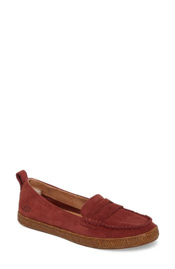 Ugg Charlie Loafer Flat, Red