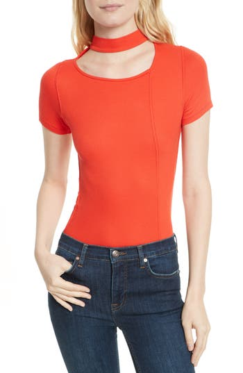 Free People Bright Lights Choker Tee, Red