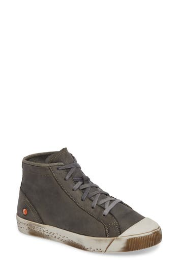 Softinos By Fly London Kip High Top Sneaker, Green