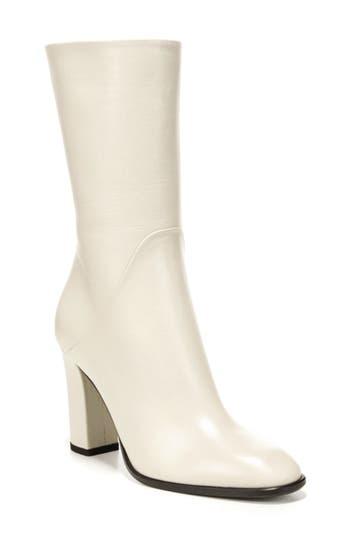 Via Spiga Adrinna Mid Calf Boot- White