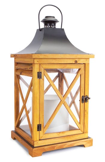Melrose Gifts Decorative Lantern, Size Large - Brown