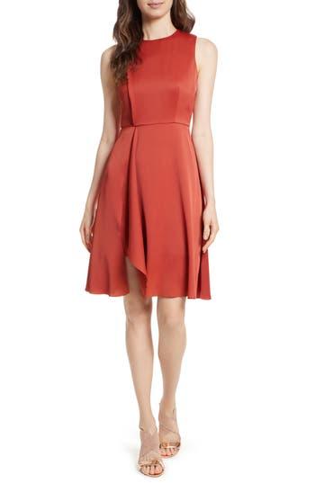 Ted Baker London Winni Front Fold Dress, Red