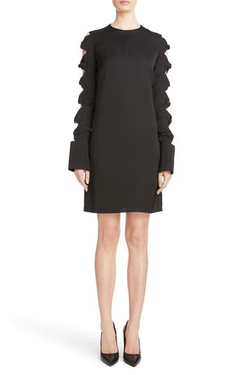 Victoria, Victoria Beckham Knotted Sleeve Dress, Black