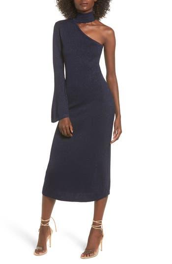 Keepsake The Label Choker One-Sleeve Dress, Blue