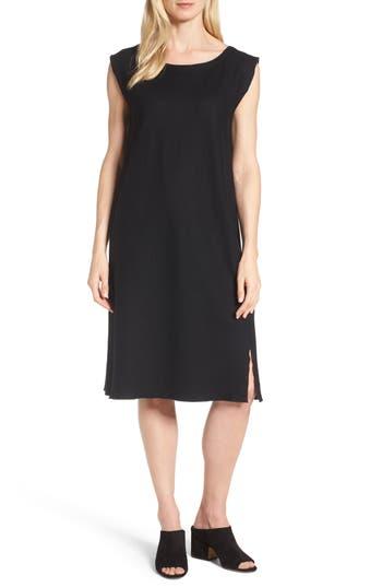 Eileen Fisher Wool Jersey Shift Dress, Black