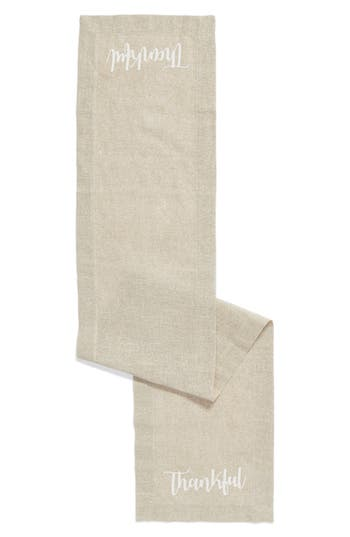 Levtex Thankful Table Runner, Size One Size - Beige