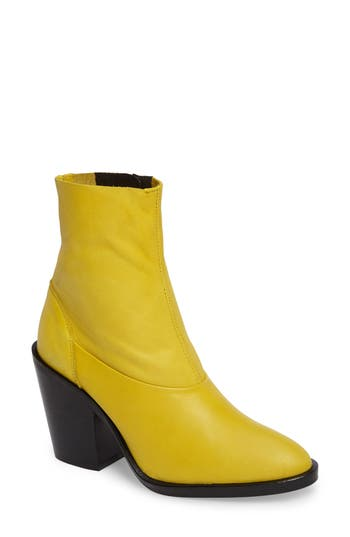 Topshop May Sock Bootie - Yellow