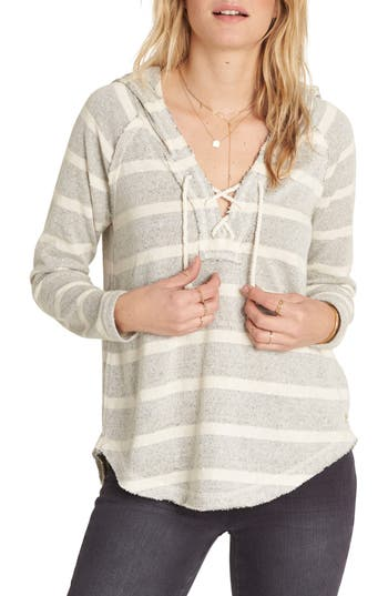 Billabong Along Side Stripe Hoodie, White