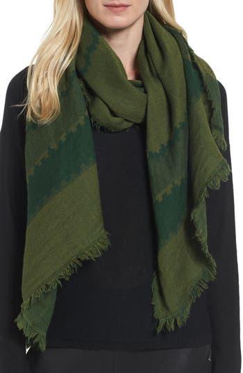 Women's Eileen Fisher Stripe Wool Scarf