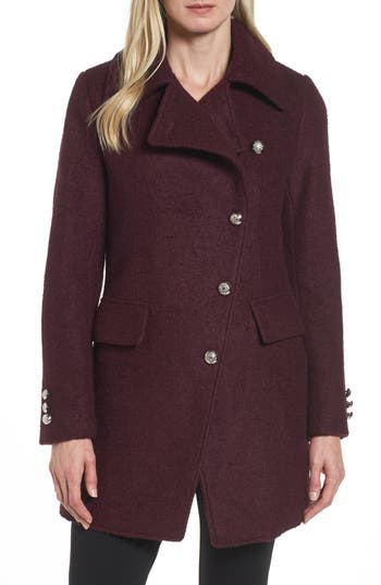 Women's Laundry By Shelli Segal Boucle Military Coat, Size X-Small - Red