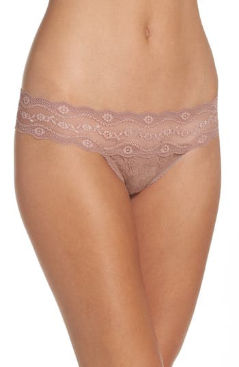 Women's B.tempt'D By Wacoal 'Lace Kiss' Thong