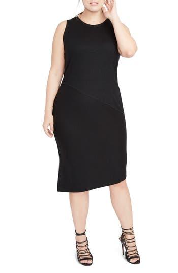 Plus Size Rachel Rachel Roy Drape Back Dress, Black