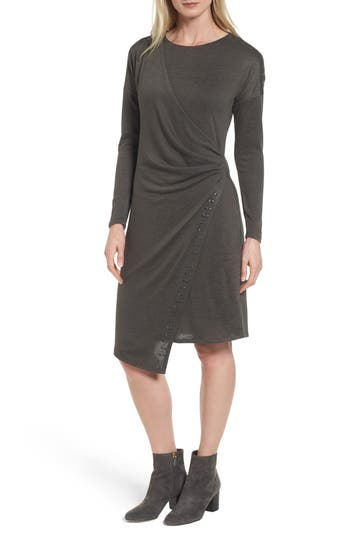 Nic+Zoe Studded Every Occasion Dress, Green