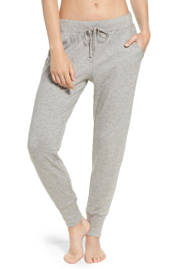 Natori Retreat Sweater Knit Pants, Grey