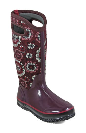 Bogs Classic Pansies Waterproof Insulated Boot, Purple