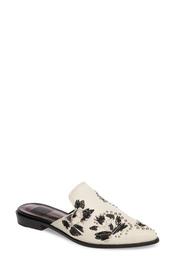 Women's Dolce Vita Harmony Embellished Loafer Mule, Size 6 M - White