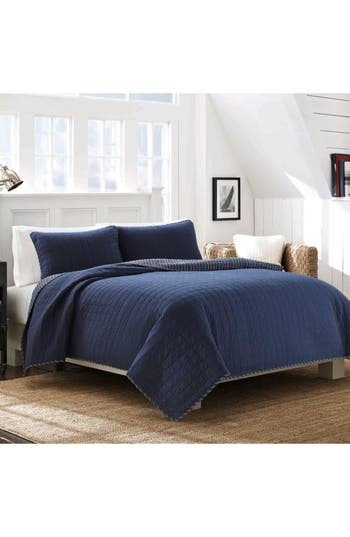 Nautica Maywood Quilt & Sham Set, Size Twin - Blue