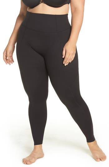 Plus Size Spanx Compression Leggings, Black