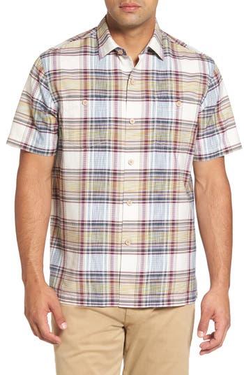 Men's Tommy Bahama Lazlo Plaid Standard Fit Silk & Cotton Camp Shirt