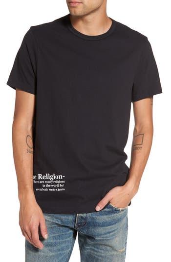 True Religion Brand Jeans Snake Skull T-Shirt, Black