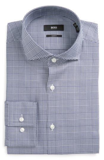 Men's Boss Slim Fit Plaid Dress Shirt