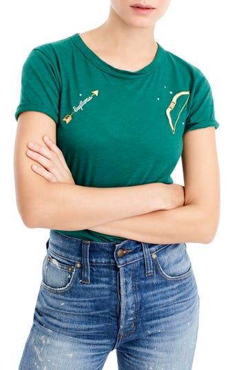 Women's J.crew Horoscope Tee, Size XX-Small - Green