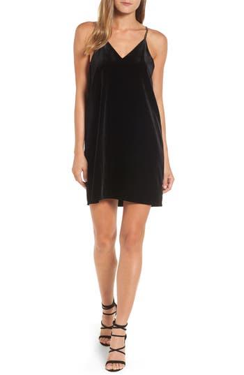 Women's Press Velvet Slipdress, Size X-Small - Black
