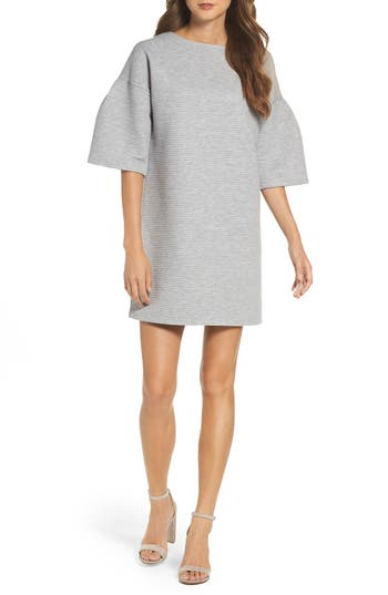 French Connection Marian Ottoman Bell Sleeve Dress, Grey